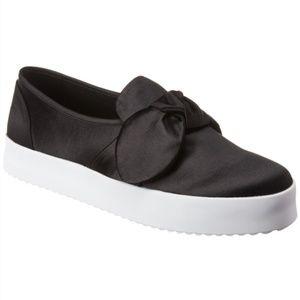 REBECCA MINKOFF {8} Black Satin Bow Sneaker Stacey